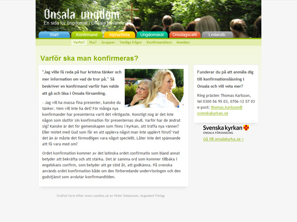 Onsala ungdom - Konfirmation